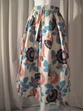 1950's Stylised floral printed vintage skirt Elizabeth Logan Inc Original **SOLD**